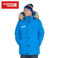 RUNNING RIVER Brand Winter Men Hooded Hiking Camping Down Jackets 3 Colors 6 Sizes High Quality