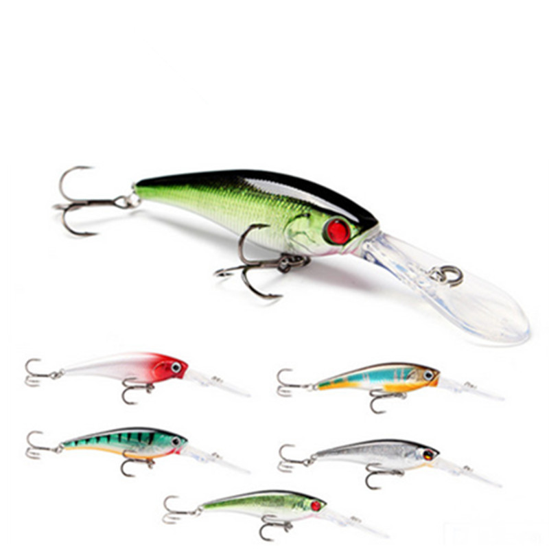 Water Dance Deep Dive Shad Suspending Floating Minnow Fishing Lure Long Mouth Tongue Board Quality Treble Hook