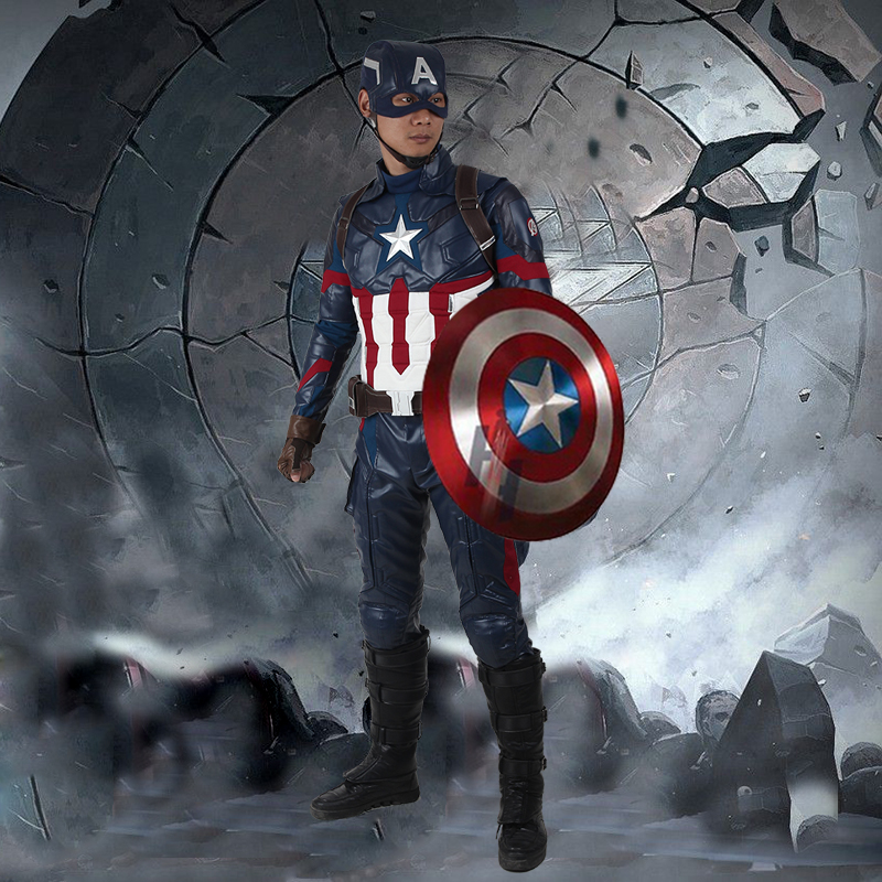 Captain America Civil War Cosplay Costume Steve Rogers Cosplay Clothing Moive One Set Halloween Outfit for Men