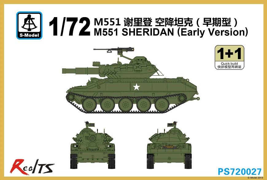 RealTS S-model 1/72 PS720027 M551 SHERIDAN Early Version Plastic Model Kit