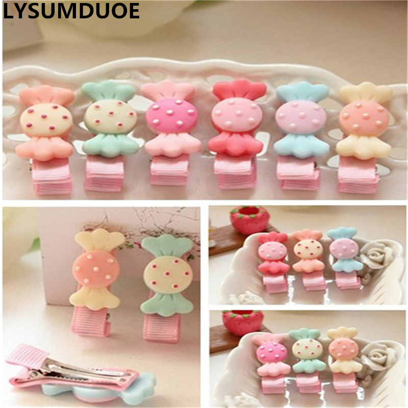 Cute Kids Girls Candy Hairpins Bow Hair Accessories Girl hair Clip Styling Tools Hairpin Hair Watermelon Red Barrettes Accessory 500pcs hair clip hair pins clips professional makeup hairdressing tools lot colors hairpins hairpin hair accessories decorations
