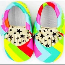 Handmade Soft Bottom Fashion Tassels Baby PU Colorful Fringe Newborn Babies Shoes 2-colors PU leather Prewalkers Boots