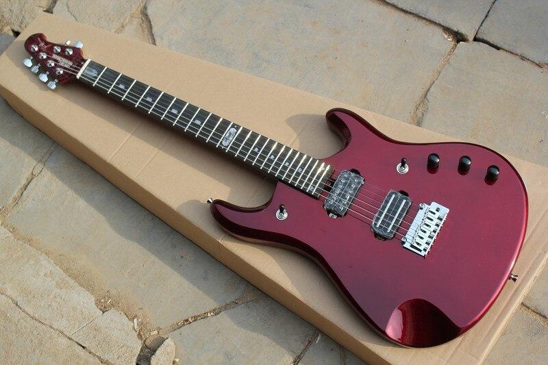 Haute qualité Musicman JP guitare électrique, érable flammé john Petrucci signature music man Métallique rouge électrique guitar-15-625