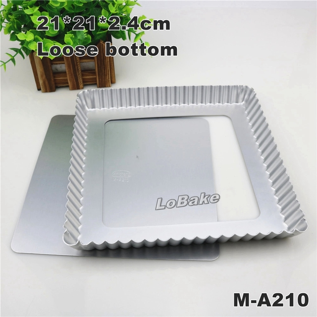 21*21*2.4cm removable bottom aluminium anodising square chrysanthemum pie pan pizza stone  sc 1 st  AliExpress.com & 21*21*2.4cm removable bottom aluminium anodising square ...