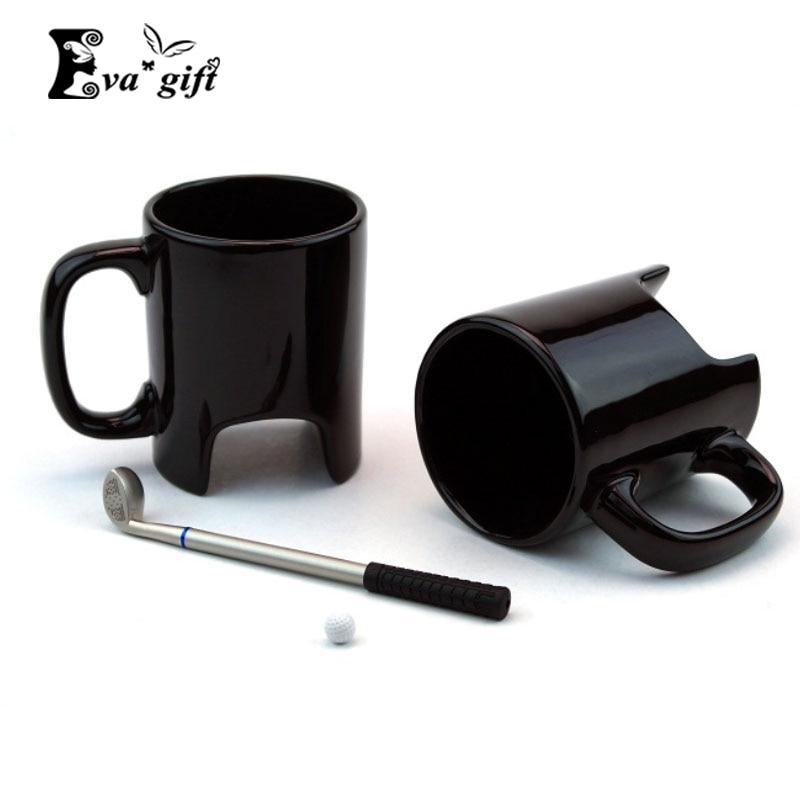 Creative Golf Ceramic Cup Funny Black Coffee Mug Office