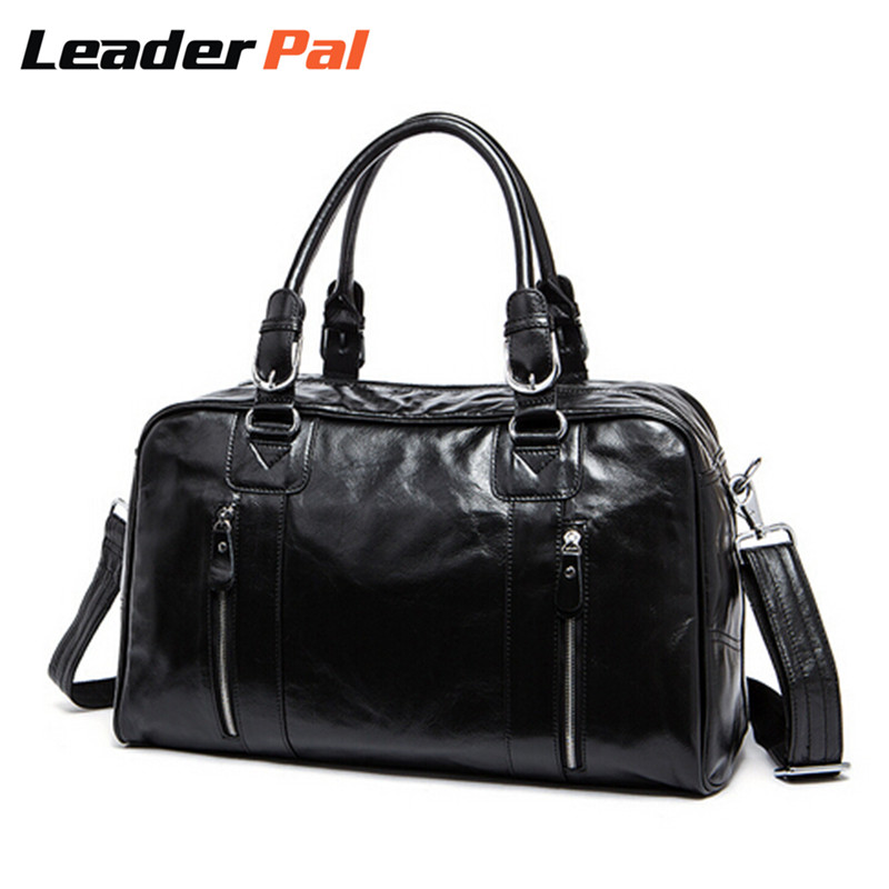 100% Genuine Leather Men Bags Large Capacity Travel Duffle Bag Vintage Tote Bag Suitcase Handbags Messenger Shoulder Bag for Men guaranteed 100% natural genuine leather men bag shoulder tote leather men travel bags men s bags handbags large size