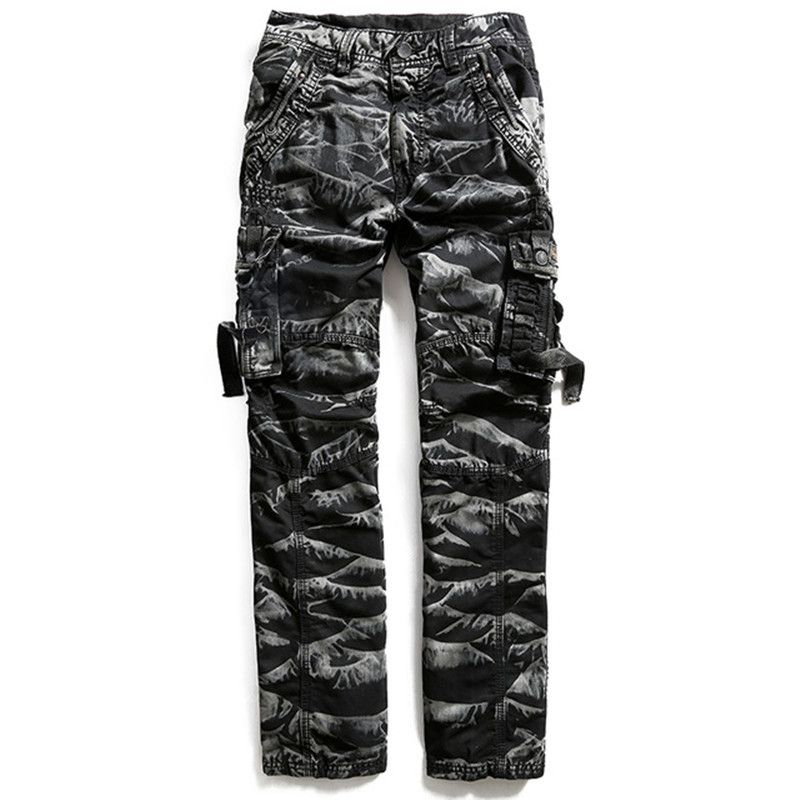 Cargo Pants Forceful Mens Military Style Camouflage Cargo Pants Male Baggy Camo Multi Pocket Long Jumpsuits Winter Cotton Straight Trousers 102401