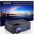 VS314 LED Mini Home TV Proyector Full HD 1500 Lúmenes TV analógica ATV Interfaz HDMI Reproductor Multimedia Portátil de Cine En Casa Proyector