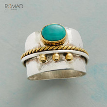 Romad Vintage Ring Men Bohemia Classic Green Beaded Resin Finger Punk Rings For Women Fashion Engagement Jewellery 2019 W3