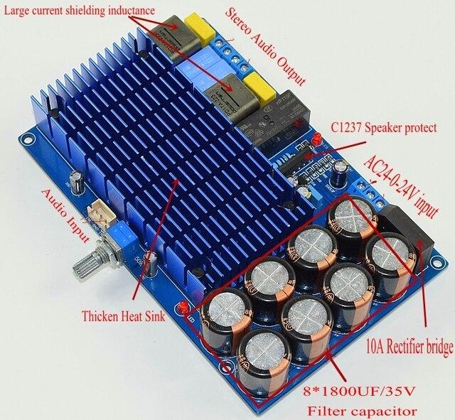 HIFI TDA8954TH כפולה ערוץ מתח גבוה 2x210W TDA8954 סטריאו דיגיטלי אודיו מגבר לוח