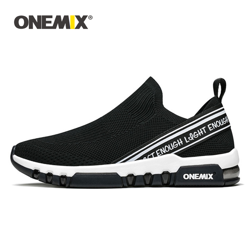ONEMIX 2019 sports shoes men running sneakers breathable mesh outdoor jogging sock shoes soft cushion sneakers
