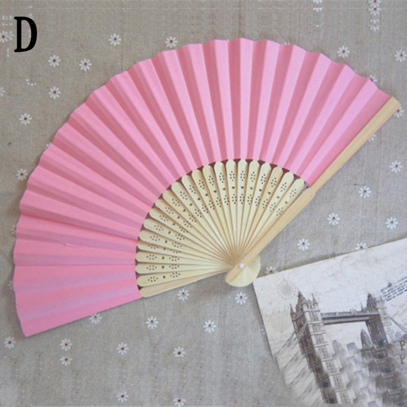 Chinese Hand Paper Fans Pocket Folding Bamboo Fan Wedding Hand Fans ...