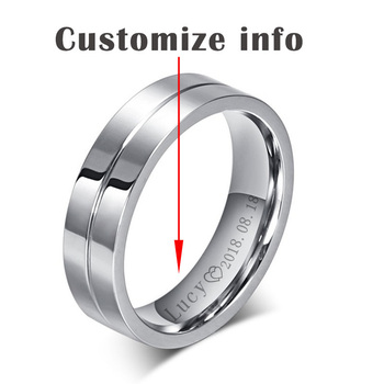 Elegant Solid Silver Couple Ring Jewelry Rings Women Jewelry Ring Size: 9.5 Main Stone Color: Personalize Men