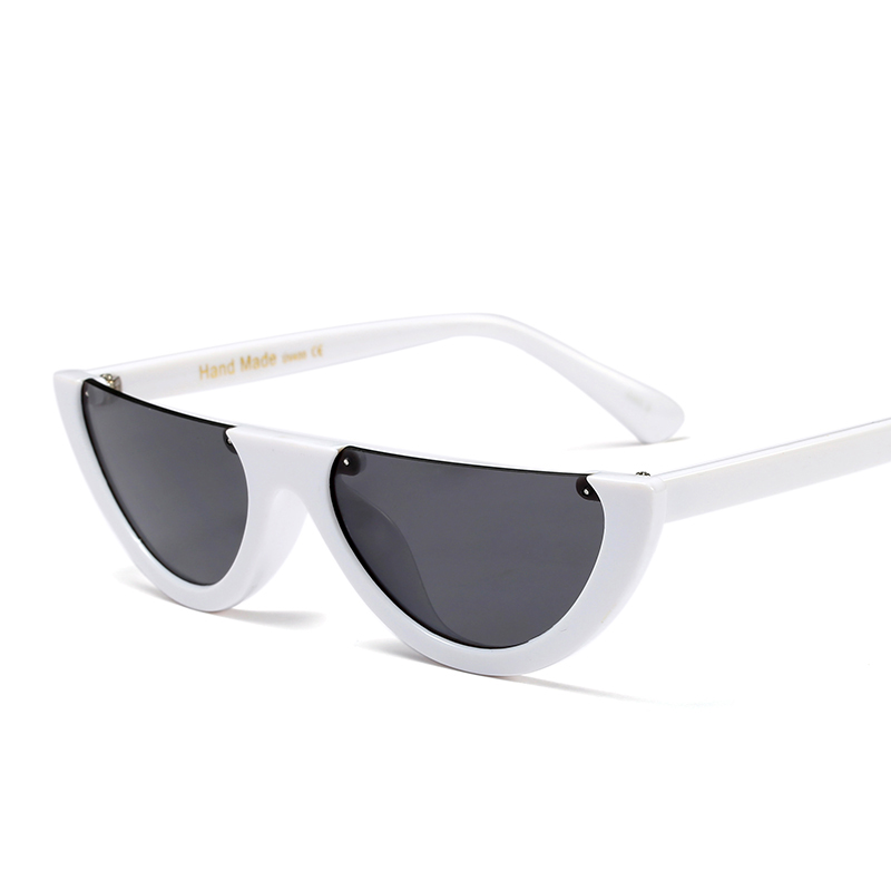 Peekaboo metade vintage frame óculos de sol das mulheres gato olho pequeno  preto branco vermelho transparente colorido uv400 óculos de sol feminino ... eeddcd369b