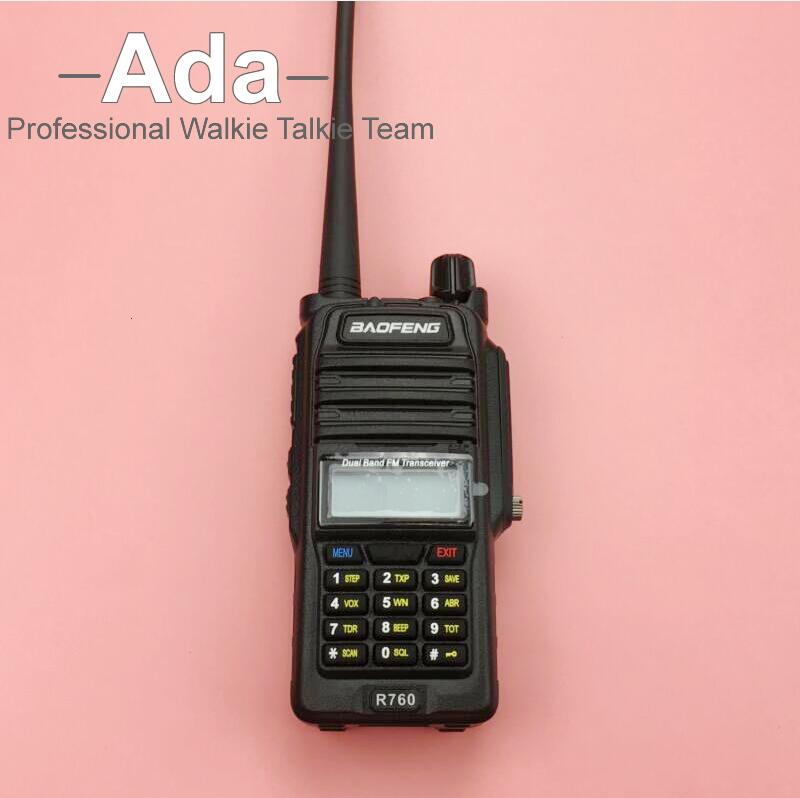 Baofeng R760 Waterproof IP57 Two Way Radio 136 174 400 520MHZ Dual Band FM Handheld Transceiver