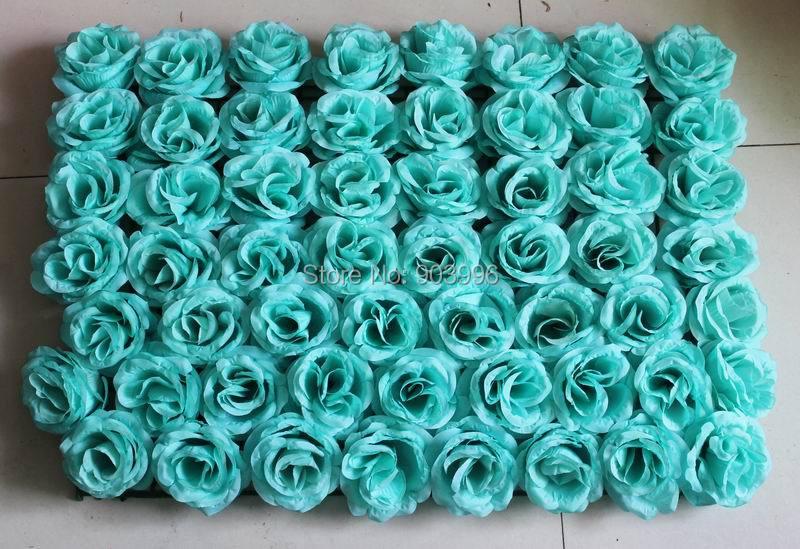 SPR EMS Gratis frakt 60 * 40cm Konstgjord silke ros blomma vägg - Semester och fester