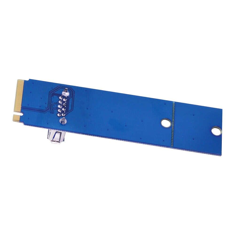 Tarjeta de transferencia CHIPAL NGFF M2 a USB 3,0 llave M2 M A Adaptador USB3.0 para PCI-E 1x a 16 x elevador tarjeta para Bitcoin Litecoin Miner