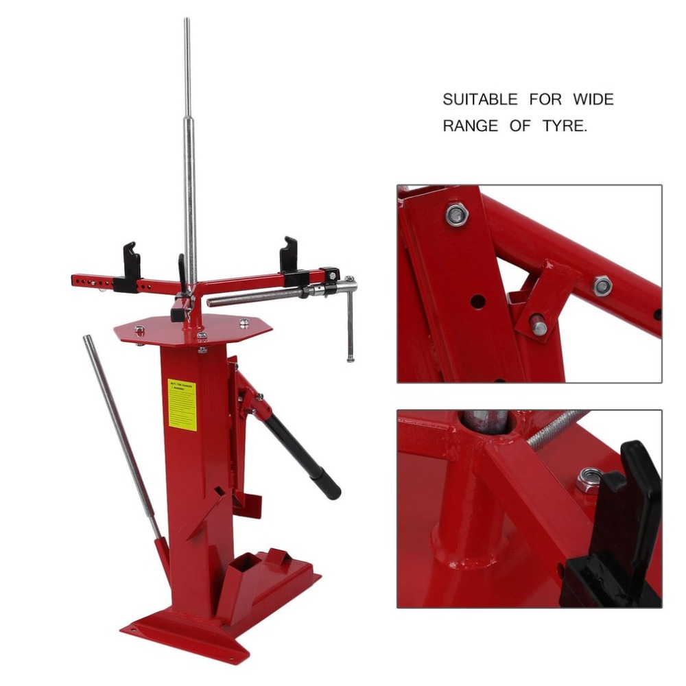 1PC Manual Type Motorcycle/Bike/ATV/Go Kart/Mini Tyre Changer Automotive Shop Manual Auto Tool Manual Portable Tire Changer 28mm installation size plastic demounting head with metal flange tyre changer accessory tyre changer tool head