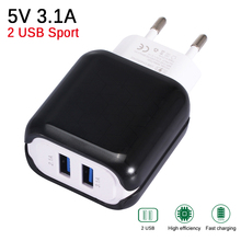 Universal 3.1A 2 USB Charger Travel Mobile Phone Ch
