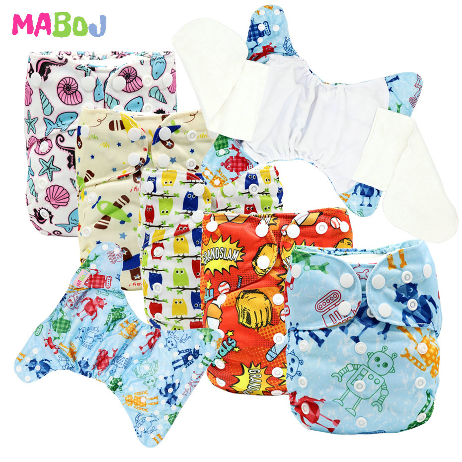 MABOJ Cloth Diapers Baby AIO Diaper All In One Washable Nappy Bamboo Waterproof Adjustable Nappy Reusable Nappies Wholesale New