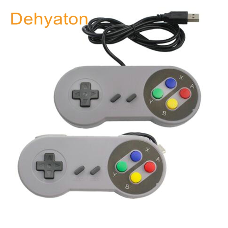 2 pcs Dehyaton Super Game Controller SNES USB Klasik Gamepad Game Controller untuk PC MAC Komputer Laptop Game remote control