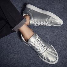 2017 New Spring/Summer Men Shoes Pu Leather Men Casual Shoes Breathable Low Laces Men Flat Shoes Zapatos Hombre Black White