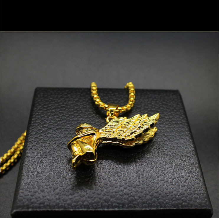 mens hiphop jewelry 2015 Micro Angel Piece Necklace collier