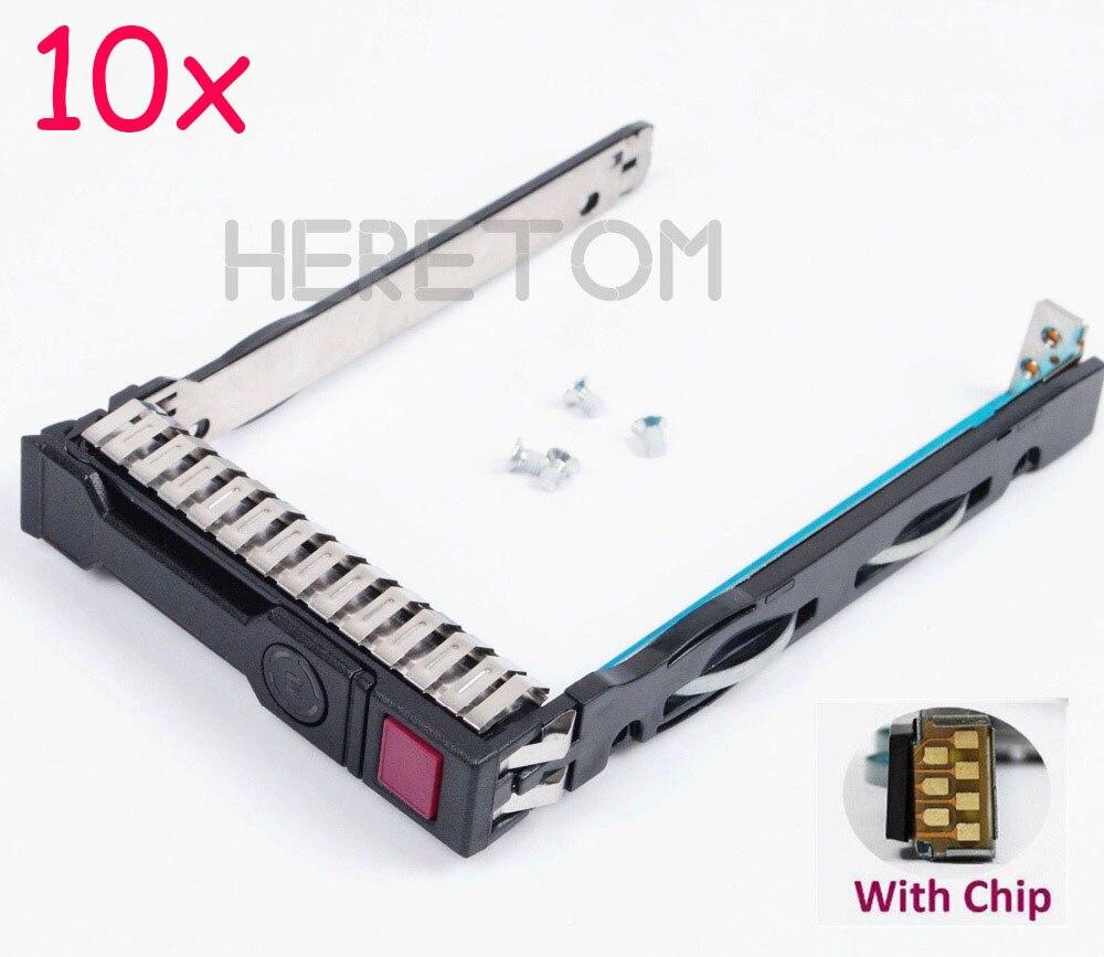 Begeistert 10 Pcs 2,5 ''sas Sata Hdd Caddy Halterung 651687-001 Für Hp G8 Gen8 Gen9 G9 Dl380 Dl360 Dl160 Dl385 2,5 Zoll Server Caddy Mit Chip Eleganter Auftritt