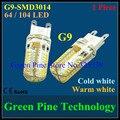Envío gratis 1 unid Silicona G9 6 W 9 W SMD 3014 64 104 LED LLEVÓ la lámpara Del Maíz Droplight Chandelier vela bombilla de luz Colgante iluminación