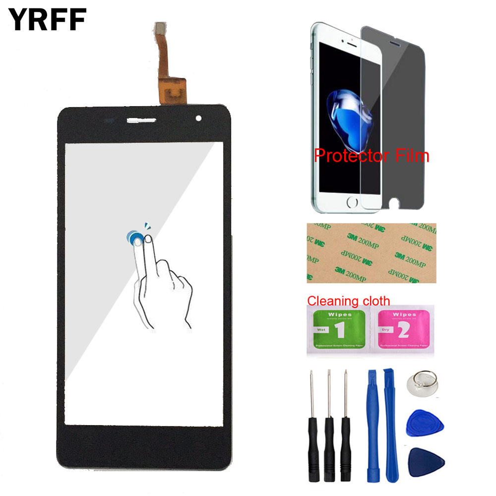 YRFF Touch Panel Touch Screen Digitizer Glass Phone Touchpad Sensor For <font><b>Oukitel</b></font> <font><b>K4000</b></font> Pro Tools Free Protector Film + Adhesive image