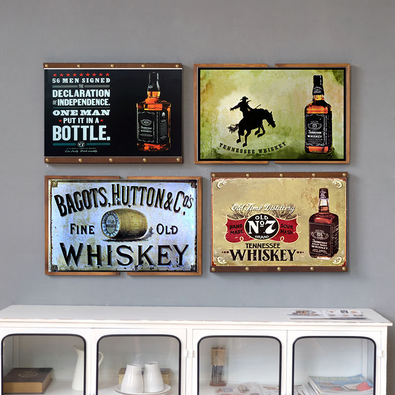 Whiskey Metal Poster Vintage Tin Sign Bar Pub Home Wall Decor Retro Metal Art Beer Coffee Poster Plate 1001(939)