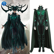 MANLUYUNXIAO Women Costume Hela Cosplay Costume Thor Ragnarok Cosplay Movie Thor 3 Costume Women Halloween Costumes For Women