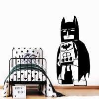 Grande decalque da parede batman papel de parede decoração lego adesivos para o bebê crianças quartos adesivos de parede decoração do quarto decalques adesivo batman