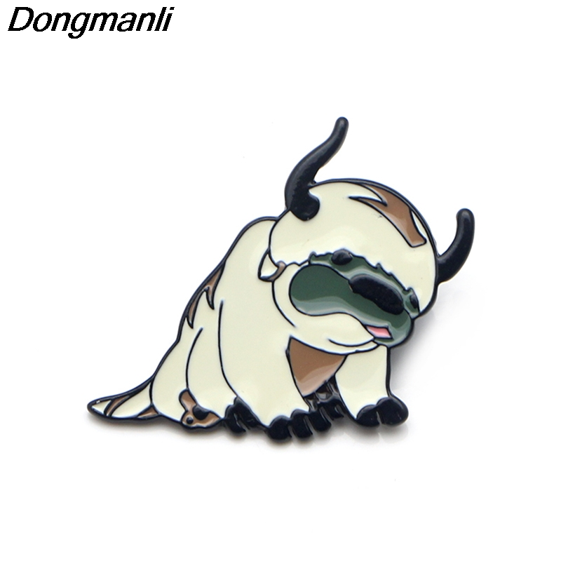 P3597 Wholesale 20pcs lot Avatar 2 The Last Airbender Resource Appa Metal Enamel Pins and Brooches