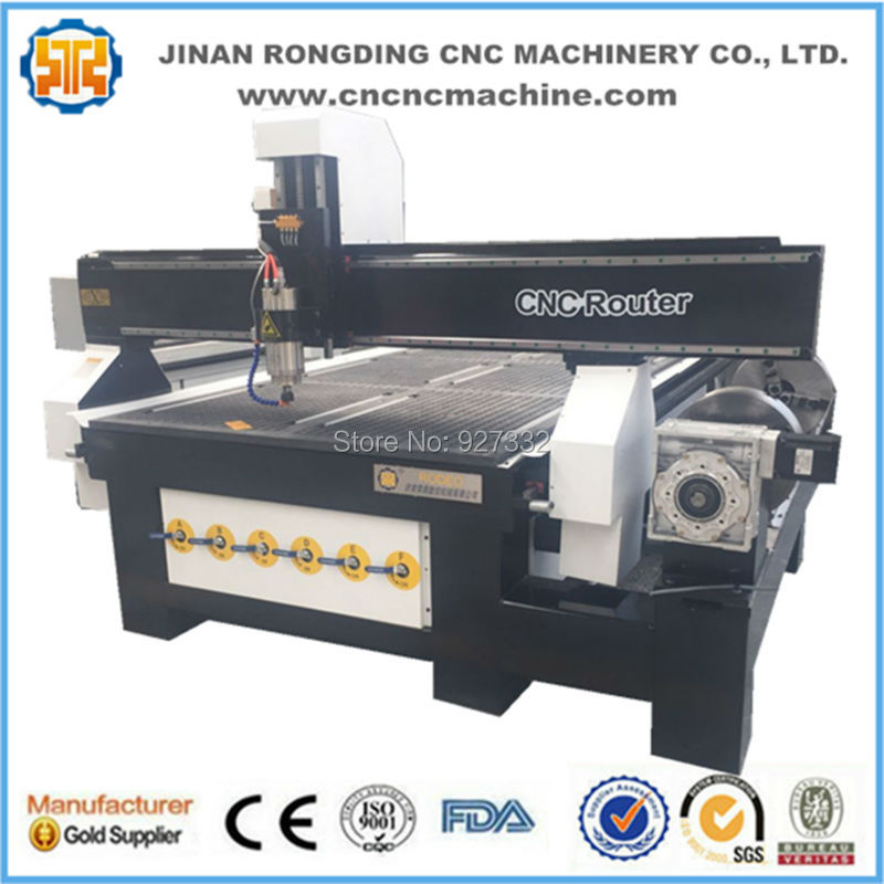 Hot sales cnc router 1325 woodworking center cnc router with rotary axis
