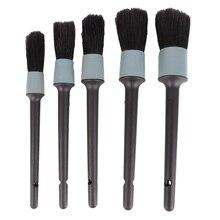 5 sztuk czyścik samochodowy czyszczenie naturalne włosie dzika szczotki do włosów Auto szczegóły narzędzia koła Dashboard detale samochodów szczotka urządzenia do oczyszczania