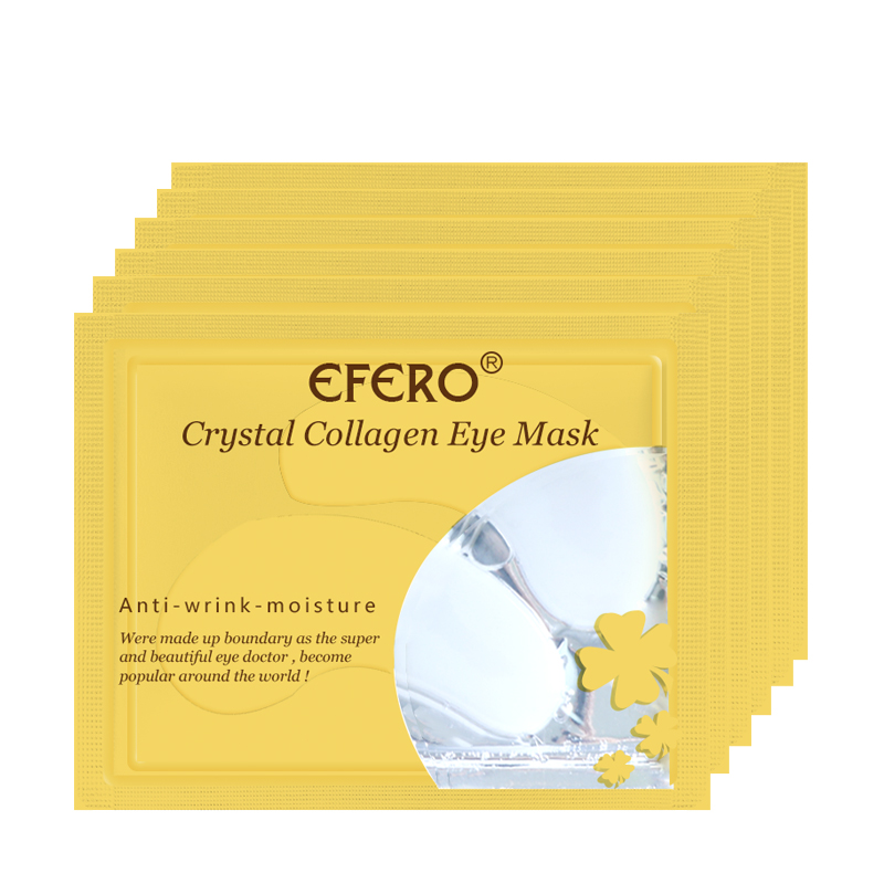 EFERO 8packs Collagen Eye Mask Gel Sleep Eye Patches Anti-Puffiness Anti-Aging Dark Circle Eye Mask for Women Men Face Skin Care
