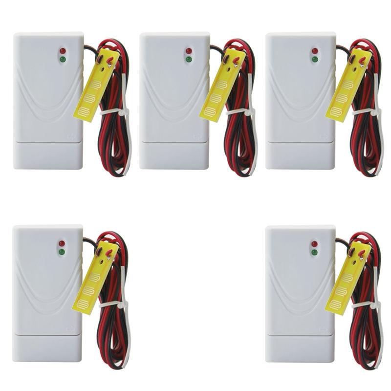 bilder für 5 Teile/los Drahtlose wasserlecksucher wasser leckage sensor bad wasser flut sensor für Zuhause kommerziellen alarm system