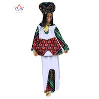 2017 Traditional African Clothing Two Piece Set Women Dress Suit Dashiki Top & Skirt African Women Long Skirt Set BRW WY193