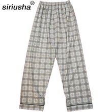 2019 Mens Sleep Shorts One-piece Pajama Pants Thermal Thick Large Size Cotton Double-sided Cloth Weight 80-110 Kg Trousers S137