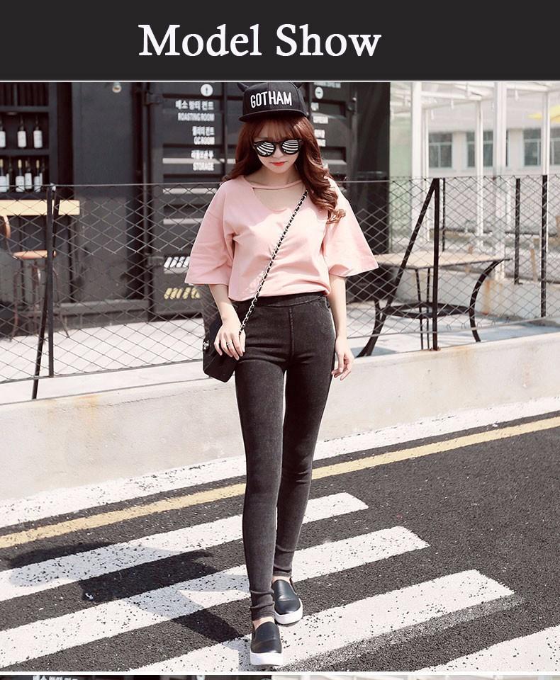BIVIGAOS Fashion Women Casual Slim Stretch Denim Jeans Leggings Jeggings Pencil Pants Thin Skinny Leggings Jeans Womens Clothing 8