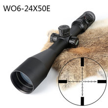 Hunting Shooting 6-24X50 Optical Sight P4 Glass Etched Reticle Riflescopes Side Parallax Adjustment Rifle Scope