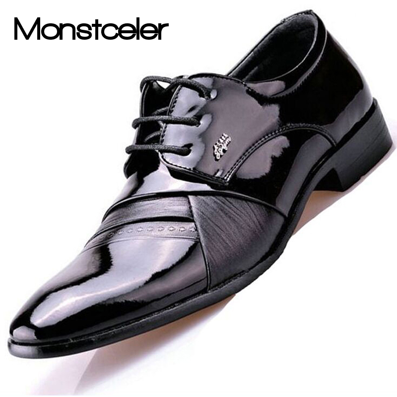 Mens Patent Leather Spectator Shoes