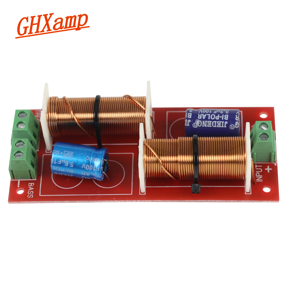 Ghxamp 2 Way Crossover Audio 150w 300w Borad Speaker Treble Bass Inductor Circuit Using An Frequency Divider 12db Oct 3200hz In Accessories From Consumer Electronics On