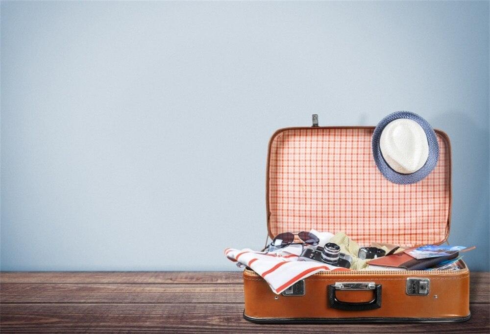 Laeacco деревянный пол чемодан Камера фотографического Фоны Индивидуальные фотографии фонов для фотостудии
