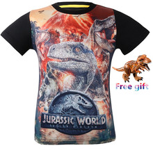 Childrens T-shirt Old Jurassic World dinosaur Children Kids Shorts Tops Tees T Shirt Fille Summer clothes Boys Dragon T-Shirt