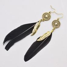 jewelry feather dangle tassel earring