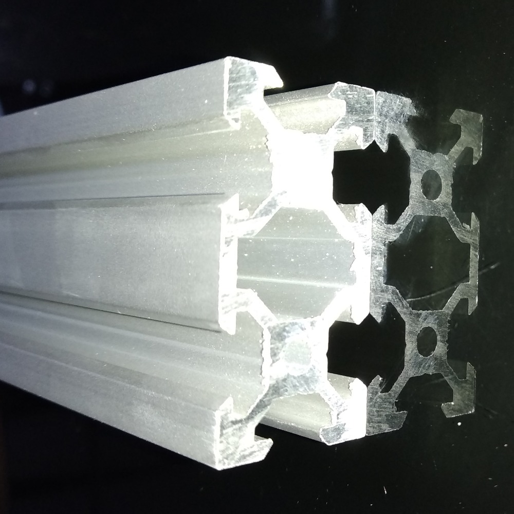 Free sample aluminum extrusion silver anodized <font><b>2040</b></font> <font><b>V</b></font>-<font><b>Slot</b></font> Aluminum Profile Extrusion Frame for CNC Laser Engraving image