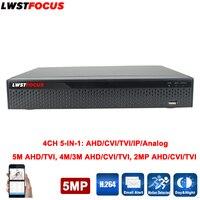 5MP 4MP 3MP 5 IN 1 AHD CVI TVI CVBS NVR 4Channel Security CCTV DVR NVR XVR Hybrid Video Recorder 1080P Onvif Max 6TB P2P View