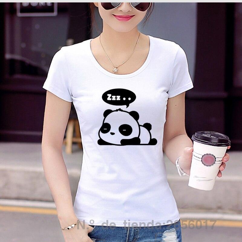 2017 Summer Lesser Panda Print T Shirt Cotton Slim Camisetas Street Chemise Anime Kawai Hip Hop Women t-shirt Dresses For Girls